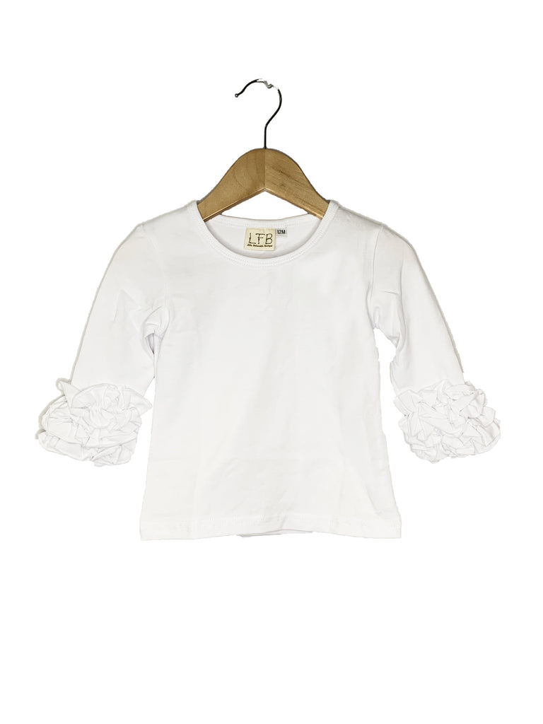 White Icing Long Sleeve Top