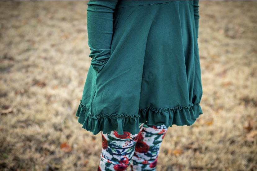 Emerald Long Sleeve Emmy Tunic