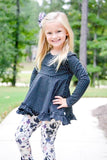 Black Dot Long Sleeve Emmy Tunic