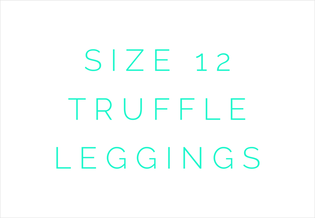 Size 12 Solid Truffle Triple Ruffle Leggings