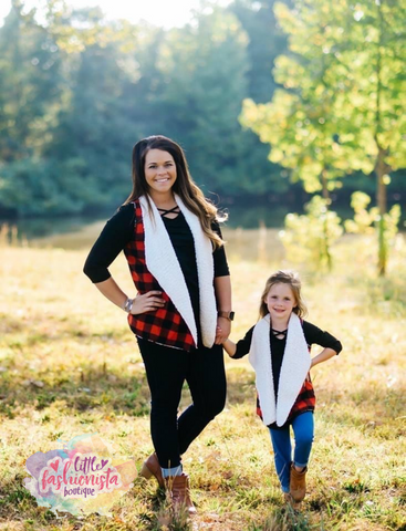 Mommy & Me Sherpa Vests with POCKETS!