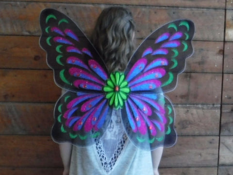 "32"" Adult Butterfly Wings - Black"