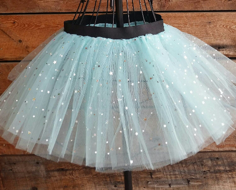 Light Blue Sparkly Tutu Skirt