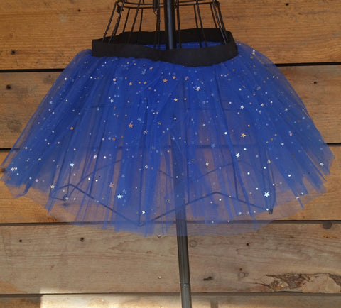 Royal Blue Sparkly Tutu Skirt