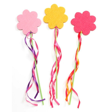 Felties Flower Wand with Streamers