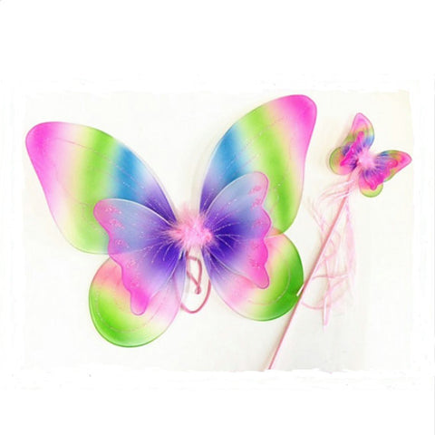 Rainbow Butterfly Wand
