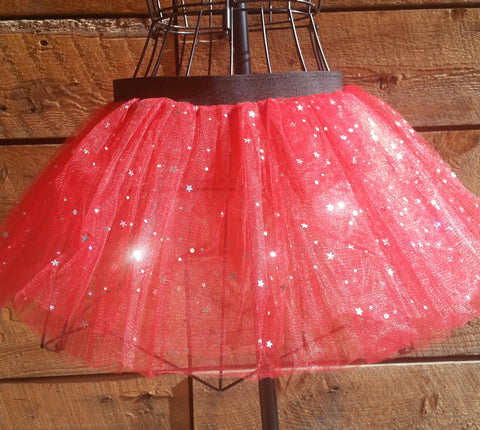 Red Sparkly Tutu Skirt
