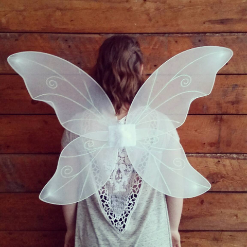 Adult Fairy Wings -White