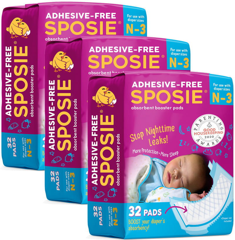 Sposie Booster Pads for diaper sizes N-3 (96 ct.)