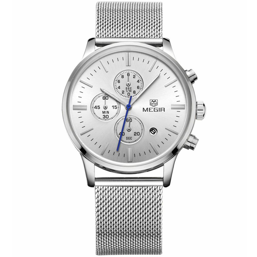 Odyssey Silver Chronograph Watch - Sterling Timepieces - 1