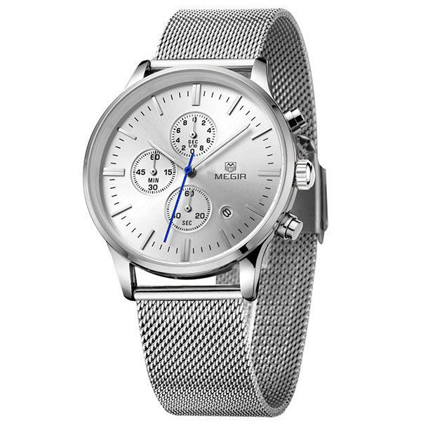 Odyssey Silver Chronograph Watch - Sterling Timepieces - 2