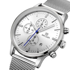Odyssey Silver Chronograph Watch - Sterling Timepieces - 3