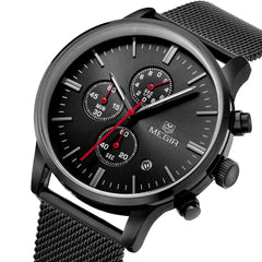 Odyssey Black Chronograph Watch - Sterling Timepieces - 3