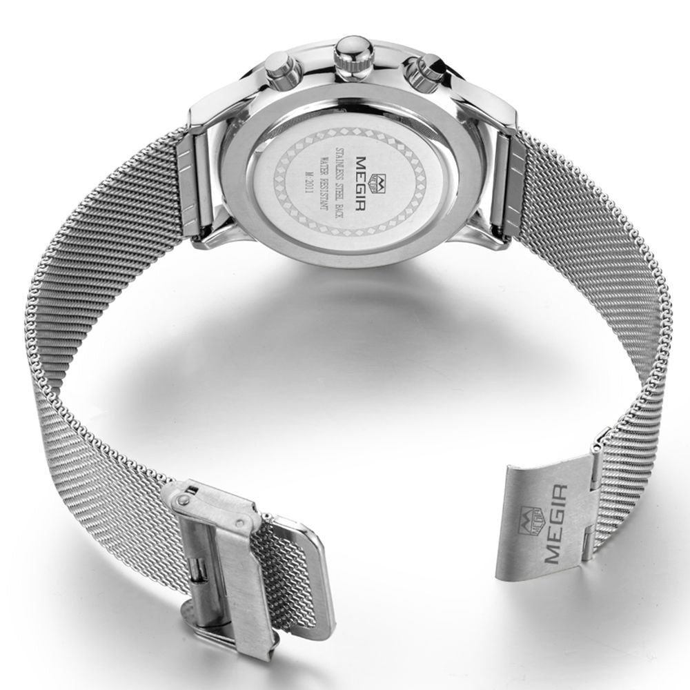 Odyssey Silver Chronograph Watch - Sterling Timepieces