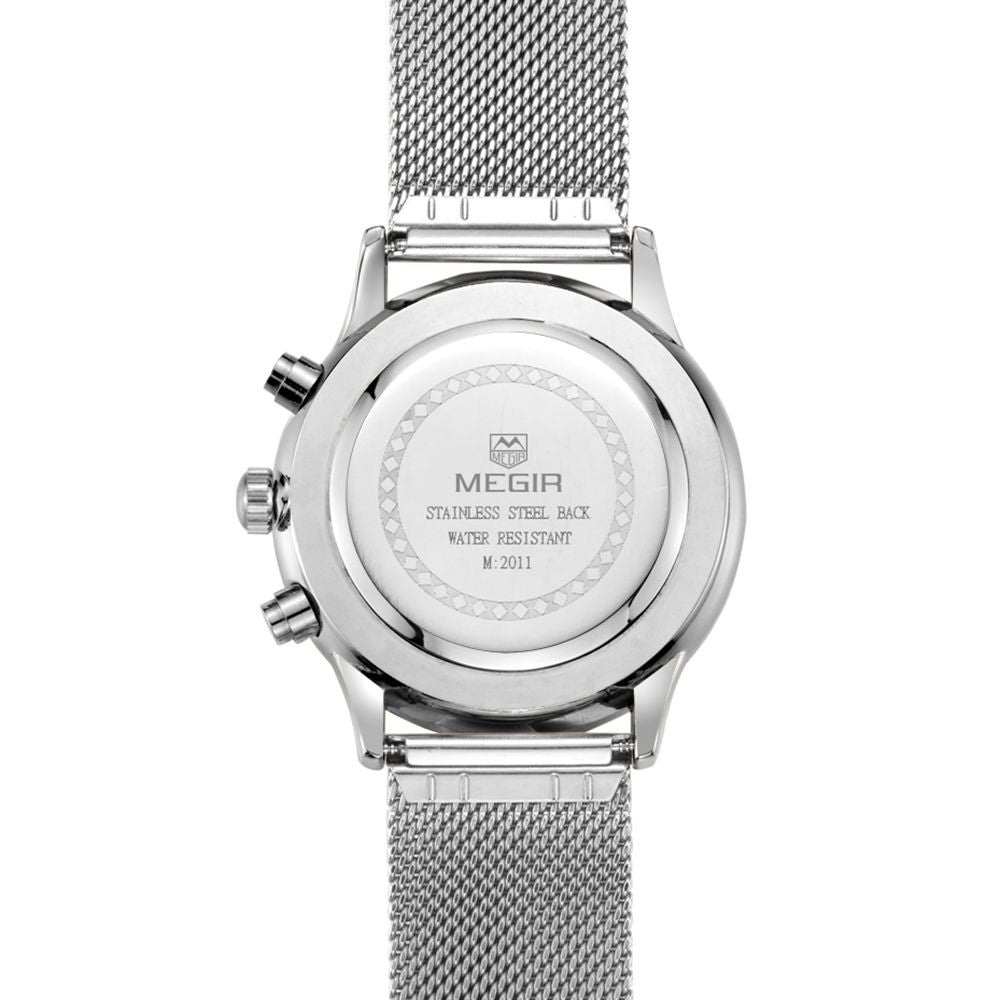 Odyssey Silver Chronograph Watch - Sterling Timepieces - 5