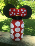 Minnie and Mickey Mouse quart size mason jars