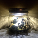 Dinosaur LED Night Light, T-Rex Night Light, Dinosaur Light, Dinosaurs in a Jar Light, Jurassic Park light