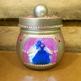 Cinderella Carriage pint size jar LED night light. Cinderella light. Princess night light. Carriage night light