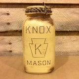 Vintage Knox Mason Jars, Beige Mason Jar Canister Set, Rustic Mason Jar Centerpiece, Mason Jar Kitchen Storage, Rustic Farmhouse Decor