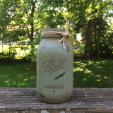 Rustic Mason jars, Mason Jars Centerpiece, Rustic Mason Jar Canisters, 4 Painted Mason Jars in Earth Tones