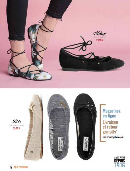 Catalogue Printemps 2017 Chaussures Yellow