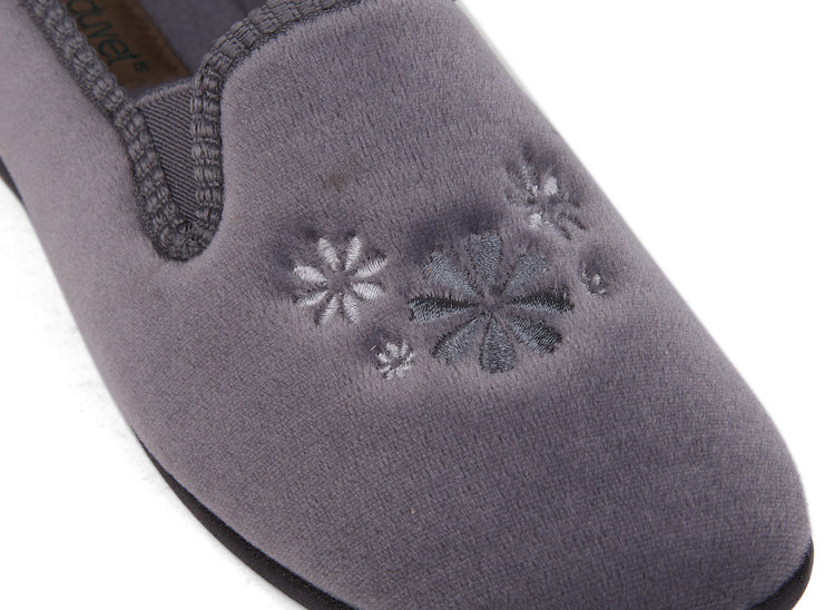 emerald duvet grey 100029-05 gender-womens type-slippers style-indoor