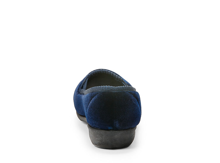 emerald duvet navy blue 100029-43 gender-womens type-slippers style-indoor