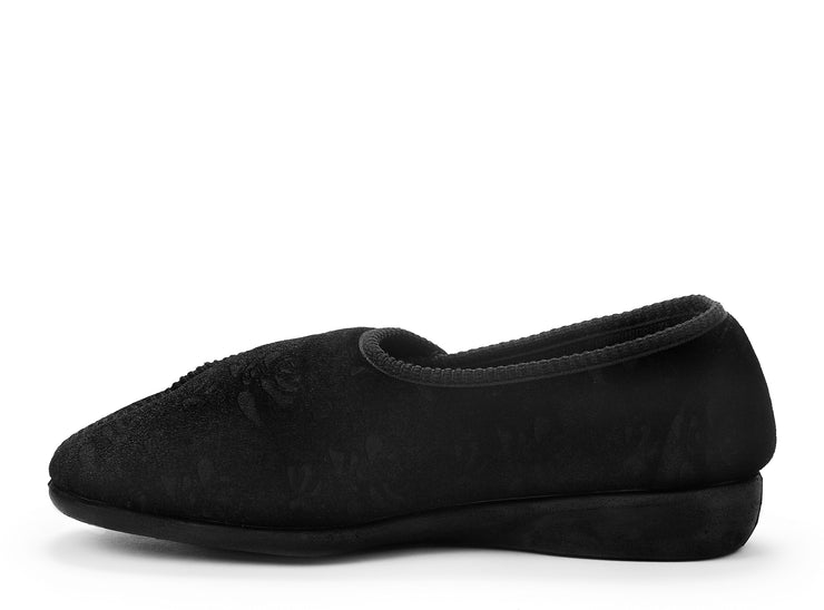 ruby duvet black 100030-01 gender-womens type-slippers style-indoor