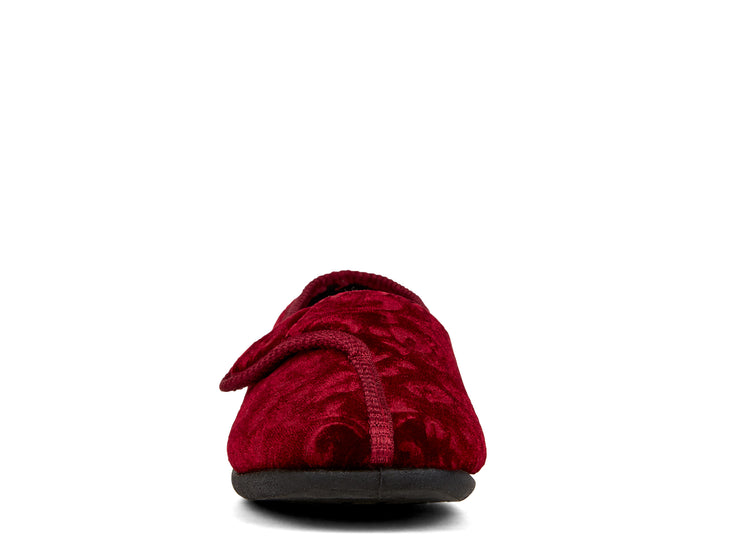 ruby duvet burgundy 100030-50 gender-womens type-slippers style-indoor