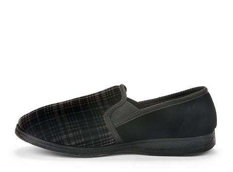 ipswich duvet black 103343-01 gender-mens type-slippers style-indoor