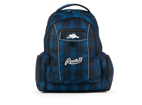 Roots Sac A Dos Bulky Navy Plaid Roots navy blue 107197-43 gender-accessories