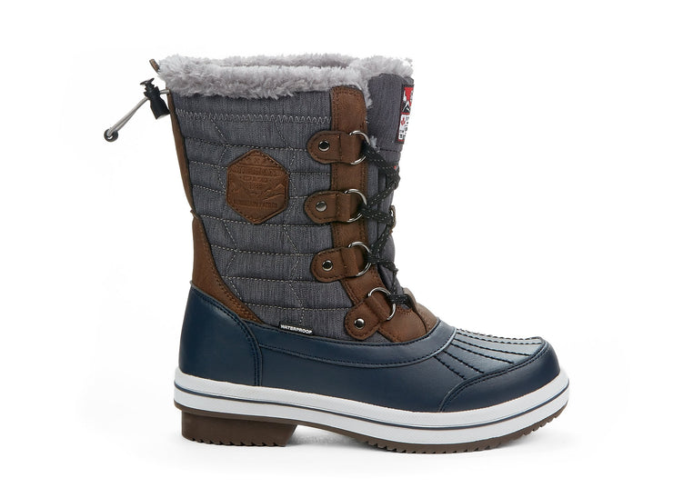 "[""Elevate Riverland navy blue "", "" gender-womens type-winter boots style-winter sports""]"