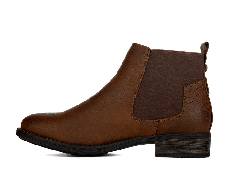 "[""Dylan Chelsee Girl cognac "", "" gender-womens type-light boots style-casual""]"