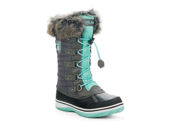 "[""Frosty Riverland grey "", "" gender-girls type-junior style-winter boots""]"