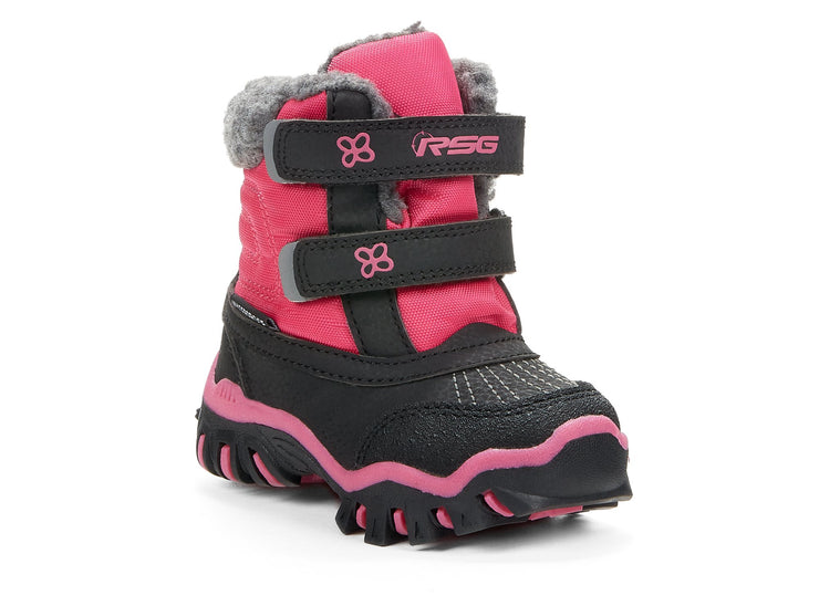 "[""Raven Velcro Riverland Storm Gear black & pink "", "" gender-girls type-babies style-winter boots""]"