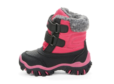 Raven Velcro Riverland Storm Gear black & pink 108015-57 gender-girls type-babies style-winter boots