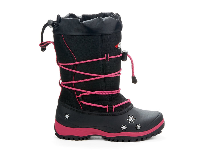 "[""Icecastle Miss Baffin black & pink "", "" gender-girls type-junior style-winter boots""]"