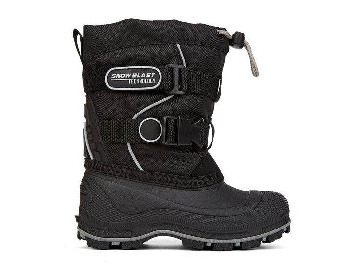 "[""Windstorm 2.0 Snowblast black & silver "", "" gender-boys type-toddler style-winter boots""]"