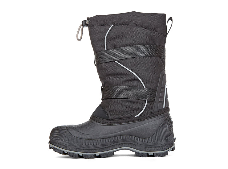 "[""Windstorm 2.0 Snowblast black & silver "", "" gender-boys type-youth style-winter boots""]"