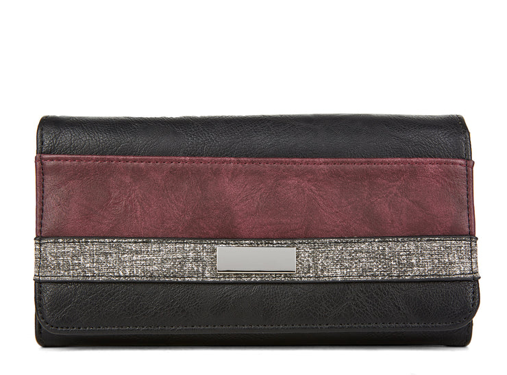 sablette-pm black & burgundy 109324-08