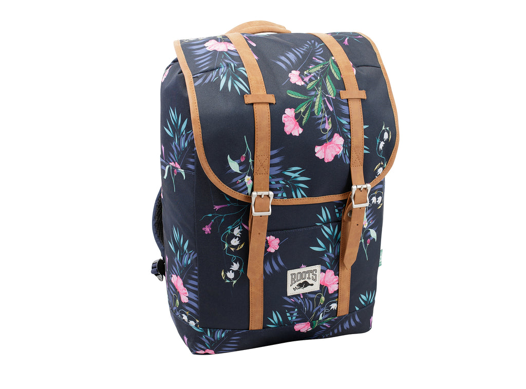 Roots Blue Floral Backpack