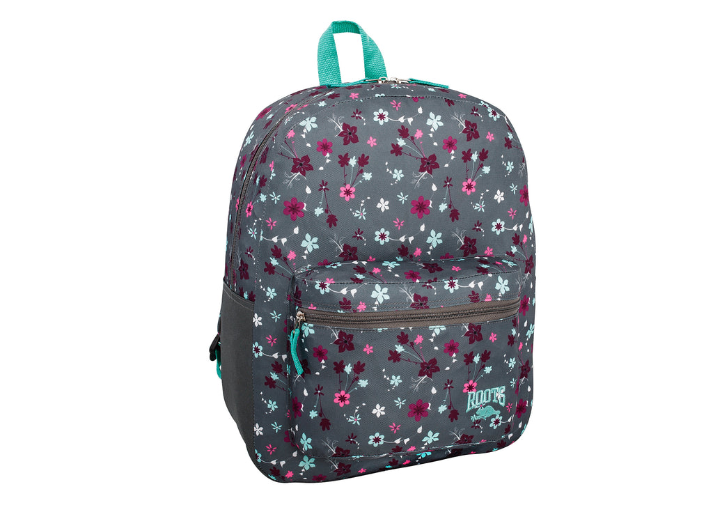 Roots Grey Floral Backpack