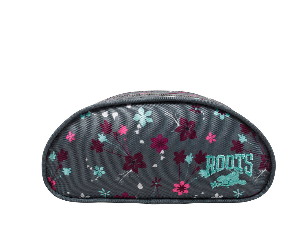 Roots Grey Floral Pencil Case