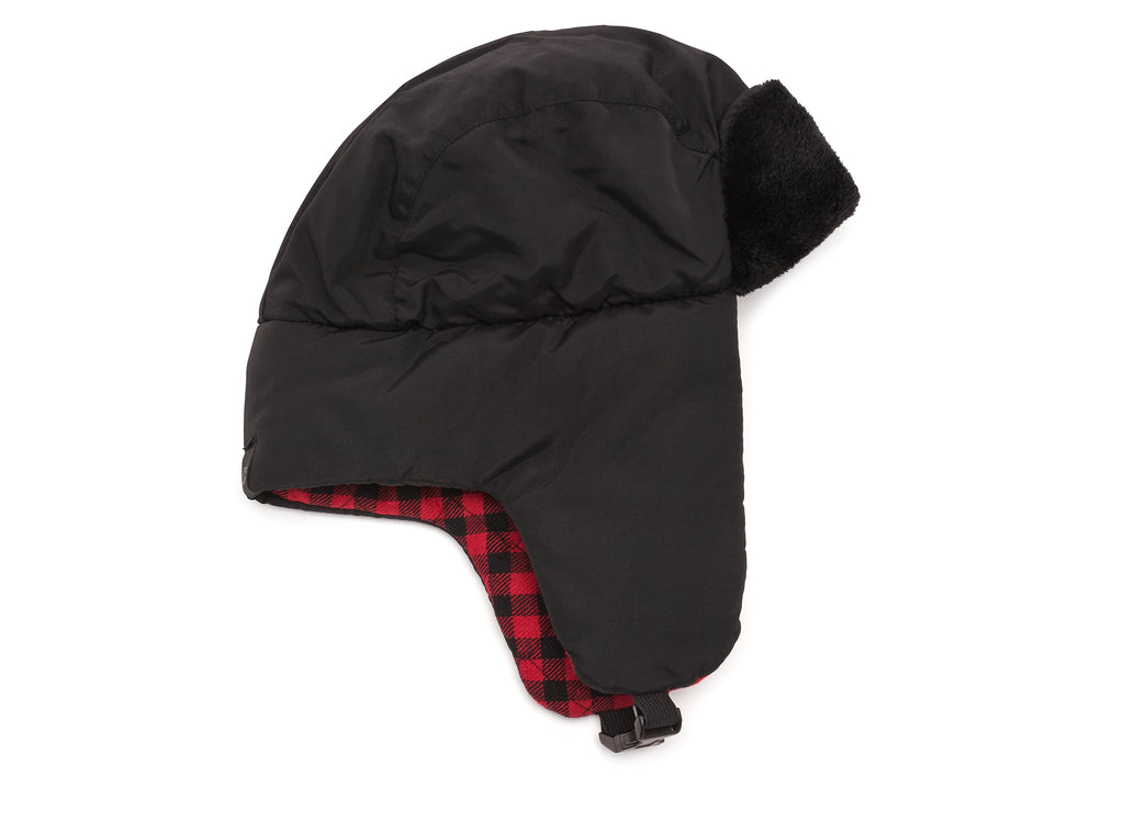 Black/Red Men's Trapper Hat