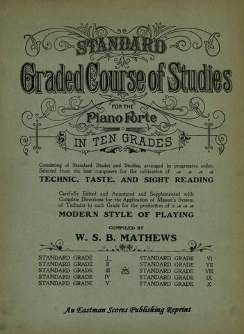 Mathews Standard 1-10 Piano Sheet Music Eastman Scores Library Commerce