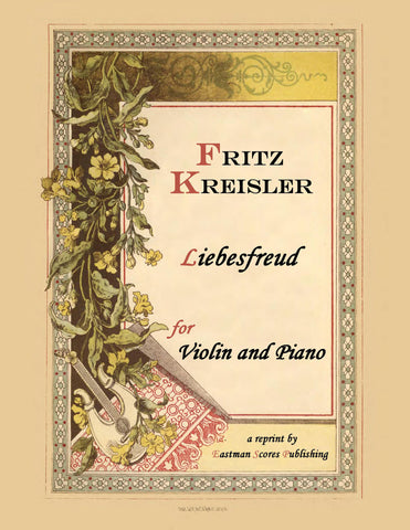 Kreisler, Fritz : Liebesfreud : for violin and piano