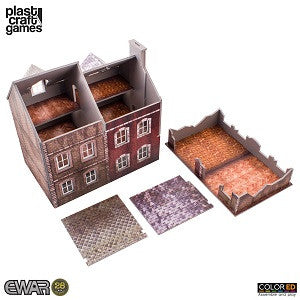 EWAR: SEMI-DETACHED BUILDING COLOUR ED (28MM SCALE)