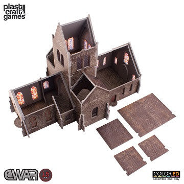 EWAR: SAINTE-MERE-EGLISE CHURCH COLOUR ED (15-20MM SCALE)
