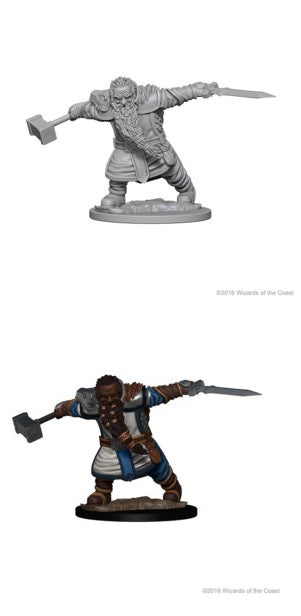 D&D UNPAINTED MINIS: DWARF MALE FIGHTER