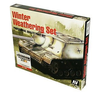 WINTER WEATHERING (9) + 2 BRUSHES